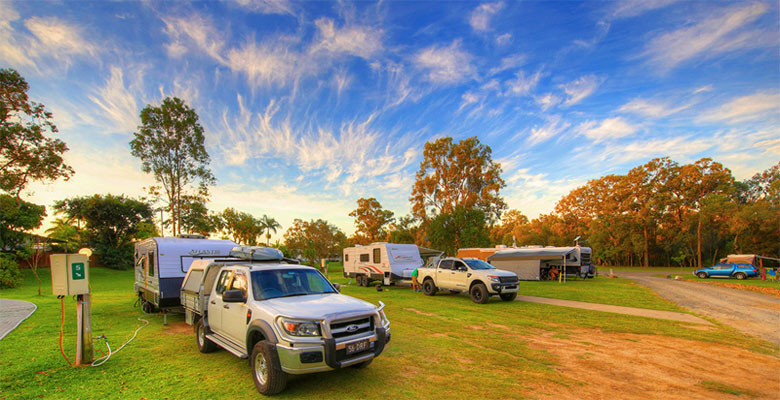 Gold Coast Camping - Powered sites at the Gold Coast Holiday Park