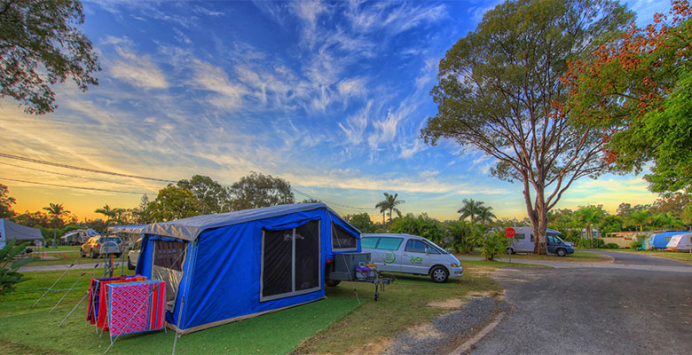 Gold Coast Camping - Unpowered sites at the Gold Coast Holiday Park